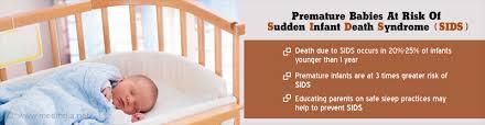 of sudden infant death syndrome higher in premature infants