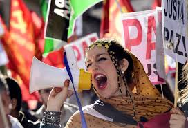 Colony Oklahoma Pumpkin Patch by Thousands Protest In Spain For Western Sahara Independence