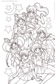 Sailor Moon Coloring Pages Avaneshop Avane Vintage Toys Games Anime And Collectibles
