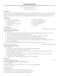 Law Enforcement Supervisor Resume Examples And Resumes For Security