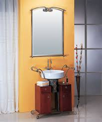 LineaAqua Merlin 34 Inch Wrought Iron Bathroom Vanity With Mirror Faucet