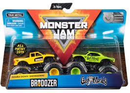 100 Monster Jam Toy Truck Videos Double Down Showdown Brodozer Gas Monkey Garage 164
