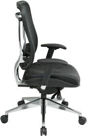 Office Chair 300 Lb Capacity by 818a 41p9c1a8 Mesh Back And Leather Seat Executive Chair With