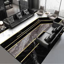 schwarz weiß grau gold marmor muster teppich nach maß 2 0 m