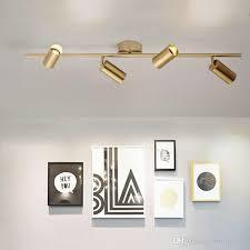 großhandel nordic gold wand led deckenleuchte wohnzimmer esszimmer kinder home spot lichter garderobe bekleidungsgeschäft cafe gold led track lights