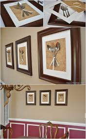 Create A Wall Art By Displaying Silverware In Picture Frames