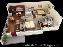 Fresh 1000 Square Homes by 1000 Square 3d 2bhk House Plans Small Houses