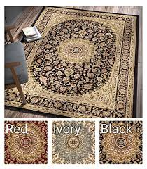 Sultan Medallion Black Oriental Area Rug Persian Formal Traditional 7 X 9