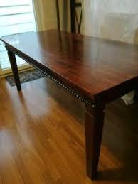 massivholz tisch für sechs personen esszimmer zwei schublade