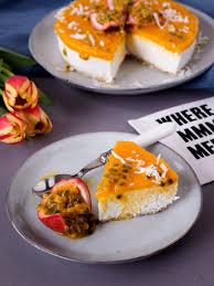 hawaii inspired mango passionfruit cake