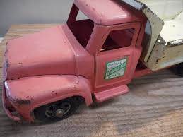 100 Pink Dump Truck L4116 Vintage Peach Buddy L Hydraulic For Parts Or
