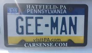 vanity plates – Making It Up As I Go Along