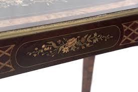 bureau louis xv 19th century louis xv style marquetry bureau plat with