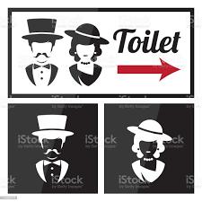 retro toiletten und wcschild stock vektor und mehr bilder 2015