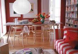 wohnräume einrichten mit rot living at home