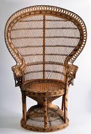 siege en rotin fauteuil vintage emmanuelle en osier et rotin vintage