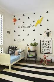 Mommo Design GREY IN KIDS ROOM See More Noahs Graphic Modern Abode