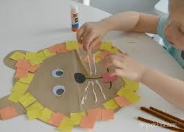Easy Toddler Activity Paper Bag Lion