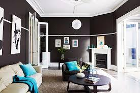 elegantes wohnzimmer mit schwarzen bild kaufen