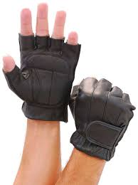premium gel palm fingerless gloves g442gel