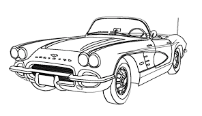 Coloring Drawings Of Cars Free Pages Corvettes