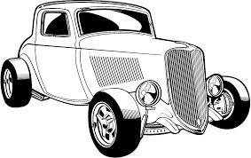 Car Love Black And White Clipart