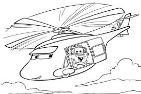 Cars Coloring Pages Helicopter