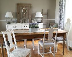 Shabby Chic Dining Room Table And Chairs by Farmhouse Chairs Etsy
