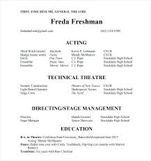 Acting Resume Template Actor No Experience Famous Impression Theatre Word