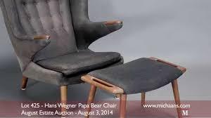 Vintage Hans Wegner Papa Bear Chair by Hans Wegner Papa Bear Chair Youtube