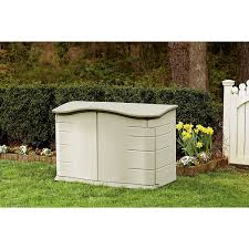 Rubbermaid Slide Lid Shed Instructions by Amazon Com Rubbermaid 3748 Horizontal Storage Shed 18 Cubic Ft