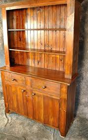 Reclaimed Wood Hutch With 2 Drawers Doors Dining