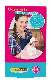 decocino blütenpaste weiß 2er set 2 x 250g kuchen deko torten deko perfekt zum modellieren blumen blüten blättern buchstaben zahlen