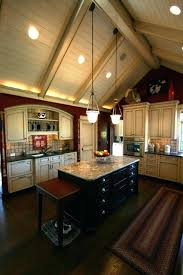 kitchen lighting ideas sloped ceiling vaulted ceilings recessed
