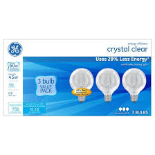 ge 60 watt g25 energy efficient halogen light bulb 3 pack soft
