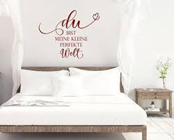 wandtattoo schlafzimmer du bist meine kleine perfekte welt