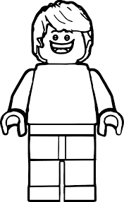 Lego Man Coloring Page For