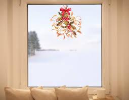details zu hochwertige fenstersticker mistelzweig advent weihnachten winter fensterbilder