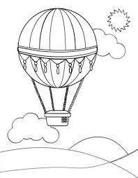 Hot Air Balloon Free Printable Balloons Coloring Pages