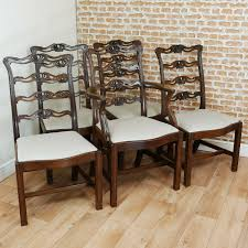 Vintage Set Of 5 Hepplewhite Carved Solid Mahogany Dining ... 4 Hepplewhite Style Mahogany Yellow Floral Upholstered Ding Chairs Style Ding Table And Chairs Pair George Iii Mahogany Armchairs Antique Set Of 8 English Georgian 12 19th Century Elegant Mellow Edwardian Design Antiques World 79 Off Wood Hogan Side Chair Eight Late 18th Of