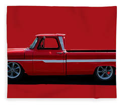 100 1960s Chevy Truck C10 Pickup Fleece Blanket For Sale By Alan Hutchins