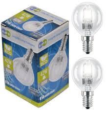 4 x eco halogen energy saving mini golf balls globes 42w 60w ses