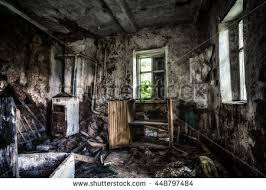 Old Forgotten And Abandoned Home Interior In A Derelict Decaying State With Grimy Floors Ripped