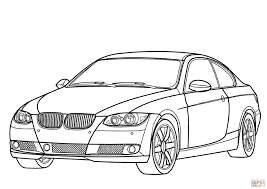 BMW 3 Series Coloring Page