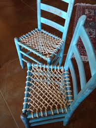 Chalk Paint And Rope Seat Bottoms! I Am Pleased With The ... Eames Molded Plastic Armchair Rocker Base Herman Miller Nyc Rush Cane Repair Natural And Paper Caning Mod Antique Barbados Mahogany Rocking Chair With Caned Bottom Custom Size Sling Or Beach Canvas Replacement How To Reupholster A Seat Pad Howtos Diy Easily Hgtv Chapman Porch How To Seats On Bentwood Rockers Restoration The Oldest Ive Ever Seen Best Choice Products Outdoor Patio Acacia Wood W Removable Cushion Decker