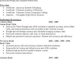 Sample Resume For Bank Jobs Freshers Banking Job Teller Cover Letter