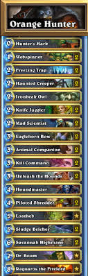 control your hearthstone opponents with orange s hunter deck