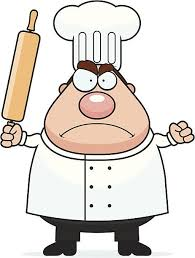 Angry Chef vector art illustration