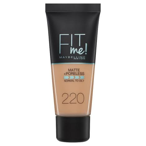 Maybelline Fit Me Matte+ Poreless Foundation - 220 Natural Beige, 30ml