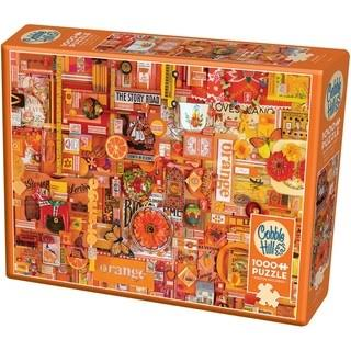 Cobble Hill 1,000-Piece Jigsaw Puzzle Puzzles, Orange
